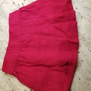 Genuine Kids by Oshkosh sparkly red skirt